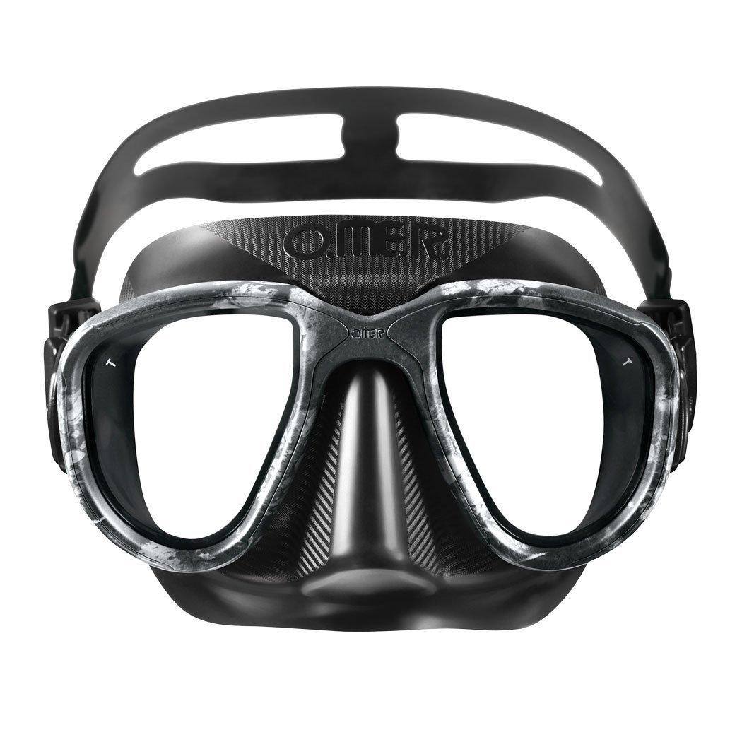 Omer Alien Mimetic Blackmoon, máscara de buceo, color negro
