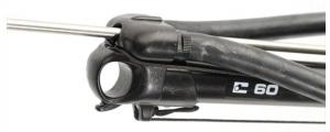 Cabezal cerrado de fusil de pesca submarina.