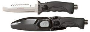 Cuchillo de pesca submarina - punta roma - Cressi - Skorpion